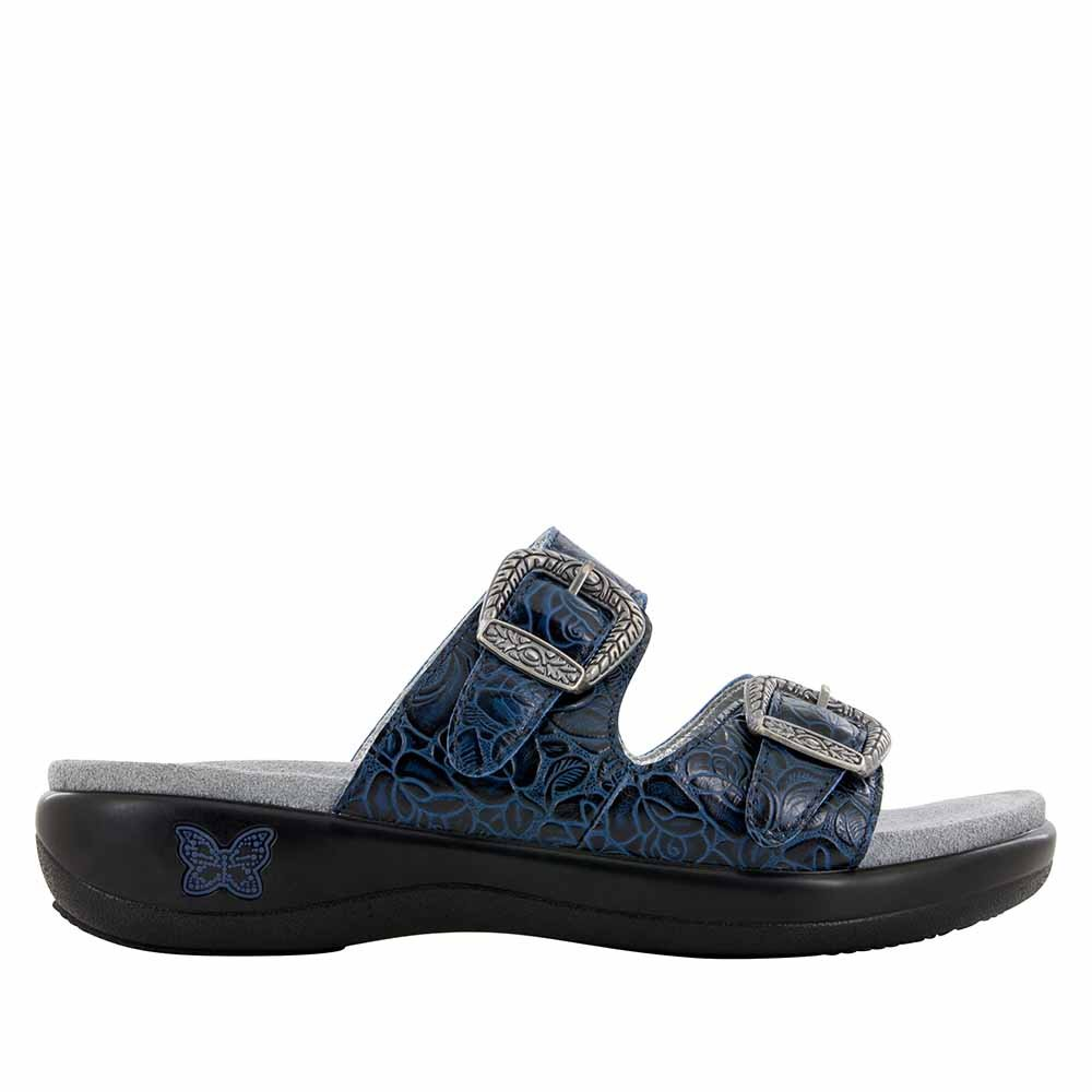 Alegria Womens Jade Slide Sandal Cowgirl Blues Size 40 EU (10 M US Women)