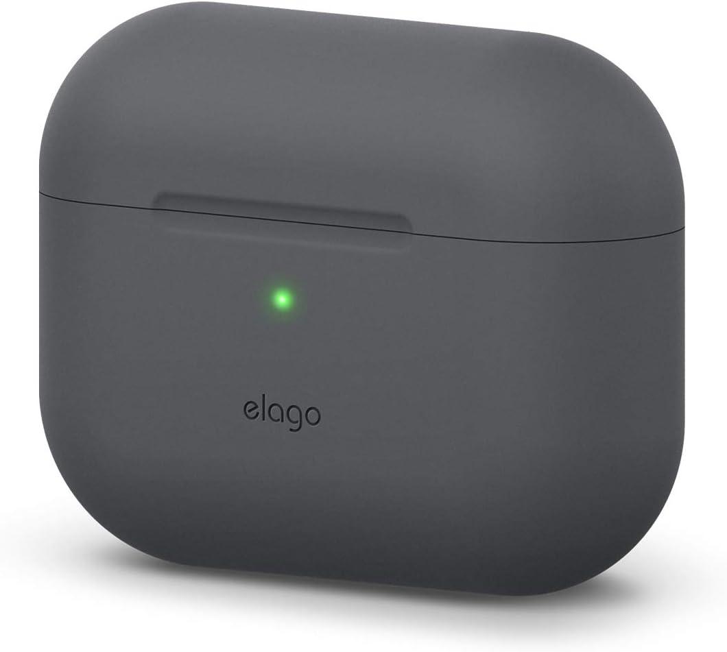 elago Original Case Designed for Apple AirPods Pro Case for AirPod Pro - Protective Silicone Cover (Dark Gray)
