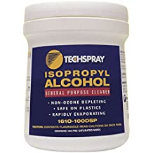 Techspray 1610-100DSP Isopropyl Alcohol Pre-Saturated Wipes 100 Count-by Techspray