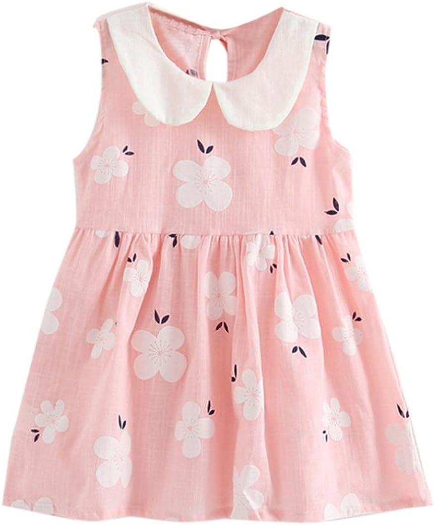 Jarsh Baby Girls Lovely Cherry Sleeveless Doll Collar Vest Princess Dress Summer Clothes