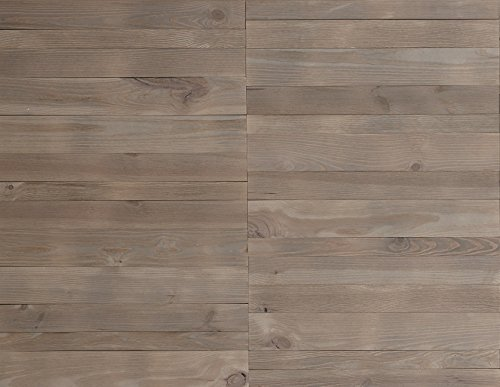 Timberwall - WELD Collection Pewter - DIY Solid Wood Wall Panel - Easy Peel and Stick application - 10.3 Sq Ft by Timberwall (Image #1)