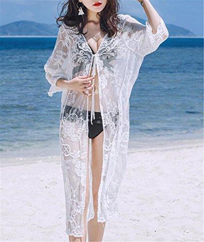 Cardigan Aeneontrue Bohemio o T Vestido ba Encaje de Traje de playa 7xwFqgCXx