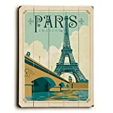 Paris France by Anderson Design Group 25''x34'' Planked Wood Sign Wall Decor Art