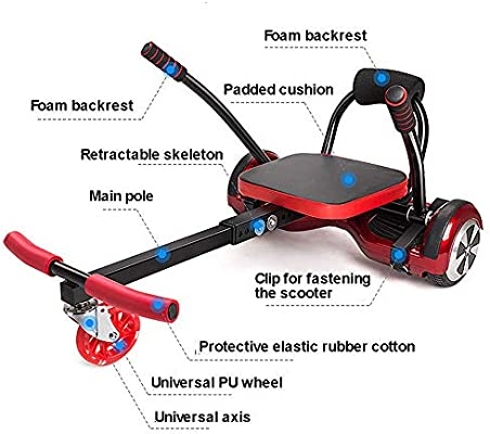Amazon.com: Accesorio de fijación para asiento de kart, 2 ...