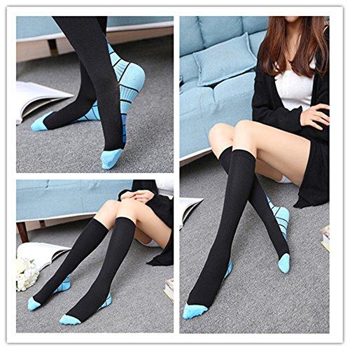 Graduated Compression Socks for Men & Women, BEST Athletic Fit for Running, Cycling, Nurses, Shin Splints, Air Travel,Foot Support & Maternity Pregnancy. Boost Stamina, Circulation, & Recovery -2 Pair by H-Brotaco (Image #6)