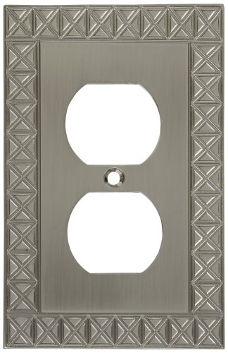 (National Hardware S803-338 V8046 Pinnacle Single Outlet plates in Nickel)