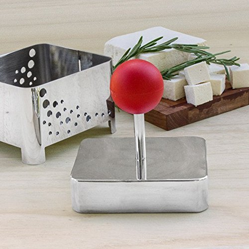 Raw Rutes - Tofu Press (Sumo) - Remove Water from Tofu OR Make Your Own Tofu or Paneer - USA Made from FDA Approved Stainless Steel by Raw Rutes (Image #1)