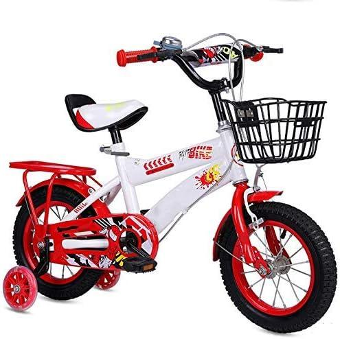 YSA キッズバイク子供用自転車12/14/16/18/20インチの男の子と女の子のサイクリング、2〜11歳の子供に適した青、赤