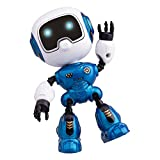 Mini Robots for Kids, Yikou Mini Intelligent Robotwith Music and Light Gesture Sensing Roboticsfor Kids Age 3 and up(Dark Blue)