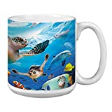 Sea Turtles and Friends Extra Large Mug, 20-Ounce Ceramic Jumbo Coffee Cup, Wildlife Themed Art - Gift for Coffee Lovers (XM29811) Tree-Free Greetings