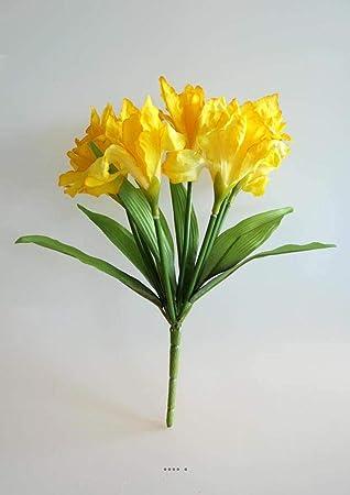Artificiales Ramo De Iris 7 Flores Y 7 Hojas Altura 28 Cm Superbe