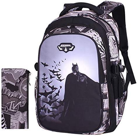 JFIDSJ Pupils bat Bag boy 1-6 Grades Guards Shoulder Bag Cartoon Backpack Children 6-12 Years Old