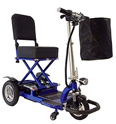 Enhance Mobility Triaxe Tour Folding 3-Wheel Mobility Scooter with Free Carry Bag and Front Basket - Choose from 2 Colors