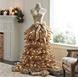 5' FT DRESS FORM MANNEQUIN CHAMPAGNE CHRISTMAS HOLIDAY PRELIT TREE STORE FRONT COMMERCIAL QUALITY