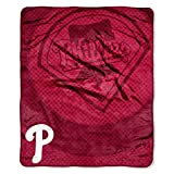 "MLB Philadelphia Phillies Retro Plush Raschel Throw, 50"" x 60"""