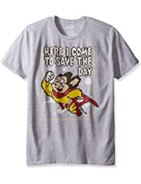 CBS Men's Mighty Mouse Here I Come to Save the Day Ss Graphic T-Shirt