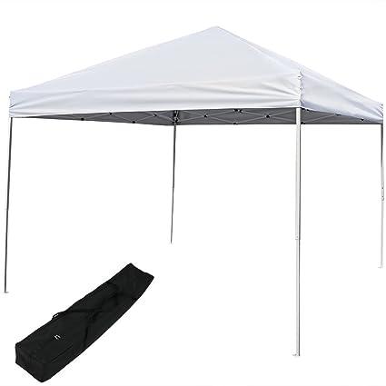 Amazon.com  Sunnydaze Pop Up Canopy Tent 12 x 12 Foot with Outdoor Carrying Bag White  Garden u0026 Outdoor  sc 1 st  Amazon.com & Amazon.com : Sunnydaze Pop Up Canopy Tent 12 x 12 Foot with Outdoor ...