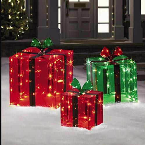Lighted Christmas Boxes Outdoors in US - 1