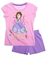 Girls Short Sleeved Disney Princess Sofia Pajama Set