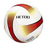 hetoo Waterproof Soccer Ball, Most Reasonable Construction Technology Football for Adult and Kids, Best Outdoor Sports Practice Soccer Ball-Size 5 4 3 (Size 5)