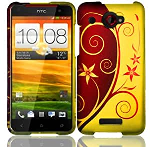 For HTC Droid DNA 6435 Hard Design Cover Case Elegant Swirl Accessory