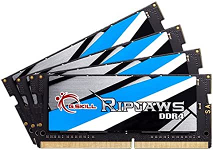 G.SKILL Ripjaws 64GB (4 x 16G) 260-Pin DDR4 SO-DIMM DDR4 2666 (PC4 21300) Laptop Memory Model F4-2666C18Q-64GRS
