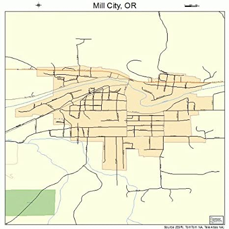 Mill City Oregon Map.Amazon Com Large Street Road Map Of Mill City Oregon Or