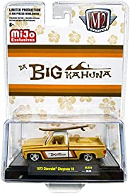 M2 Machines 1973 Cheyenne 10 Pickup Truck with Surfboard Big Kahuna Limited Edition to 4400 Pieces Worldwide 1