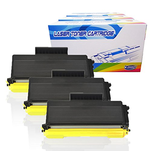 Inktoneram Compatible Toner Cartridges Replacement for Brother TN580 TN550 TN-580 TN-550 MFC-8460N MFC-8660DN MFC-8670DN MFC-8860DN MFC-8870WN DCP-8060 DCP-8065 DCP-8065DN HL-5240 HL-5250 (BK-3PK)