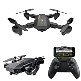 ERolldeeP Rc Drone Foldable Flight Path FPV VR WiFi Rc Quadcopter 2.4GHz 6-Axis Gyro Remote Control Drone with 720P HD 2MP Camera Drone
