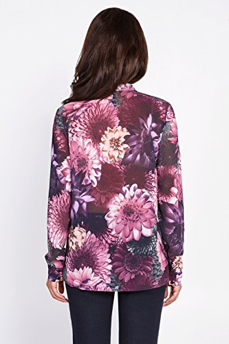 bestia Damen Bluse, Modell Air, Langarm Bluse, Oberteil, Hemd, Blumenmotiven