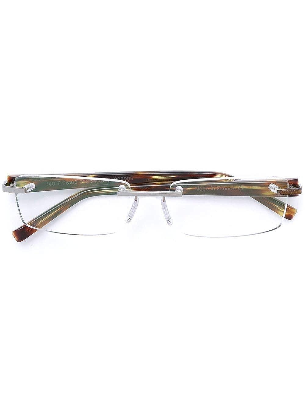 399041c15da TAG Heuer Trends Designer Ruthenium Rimless Eyeglasses 8103 013 Havana Brown