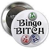 BINGO B*TCH Player Fan 2.25 inch Pinback Button Badge