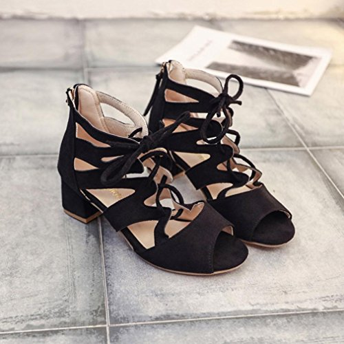 Verano Boca Sandalias Cruz 2018 Plataforma Tacón Romano Cordones Pescado De Hueco Moda Vestir Zapatos Mujer Terciopelo Para Negro Calzado Fiesta Paolian wAIqvv