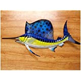 Ocean Sailfish Salt Water Fishing Replica Wall Mount