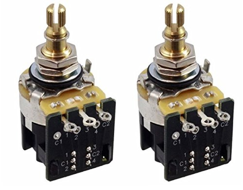 CTS 500K Push Pull Short Shaft Audio Taper Potentiometers - Pair (2X) (Audio Taper)