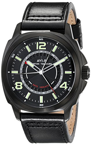 AVI-8 Men's AV-4032-05 Curtiss Tomahawk Analog Display Japanese Quartz Black Watch