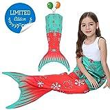 Mermaid Tail Blanket for Kids,Soft All Seasons Seatail Sleeping Bag Blanket,Girls Mermaid Costume Dress, Kids' Bedding Toys Comforter for Sofa,Home,Travel,Camping Birthday Gif t