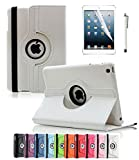 ipad 2 air case girls cool - Apple iPad Air 2 Case CINEYO(TM) 360 Degree Rotating Stand Case Cover with Auto Sleep / Wake Feature for iPad Air 2 / iPad 6 (6th Generation) (White)