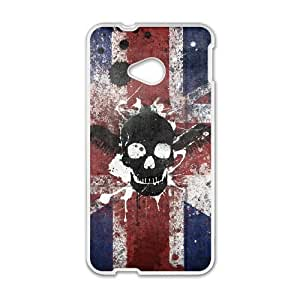 Skull For HTC One M7 Csae protection phone Case FXU341332