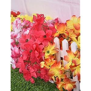 HUAHUA Artificial Flowers, Fashion Bouquets,Silk Azalea/Chrysanthemum Artificial Flowers 89