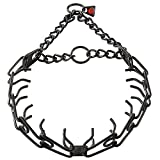 Herm Sprenger 4.00 mm x 20'' X-Large Black Stainless Steel Pinch Training Collar, One Size