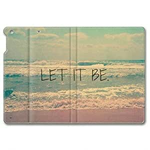 Beach Life Quotes Let It Be 001 Leather Cover for iPad Air,iPad 5 by icecream design