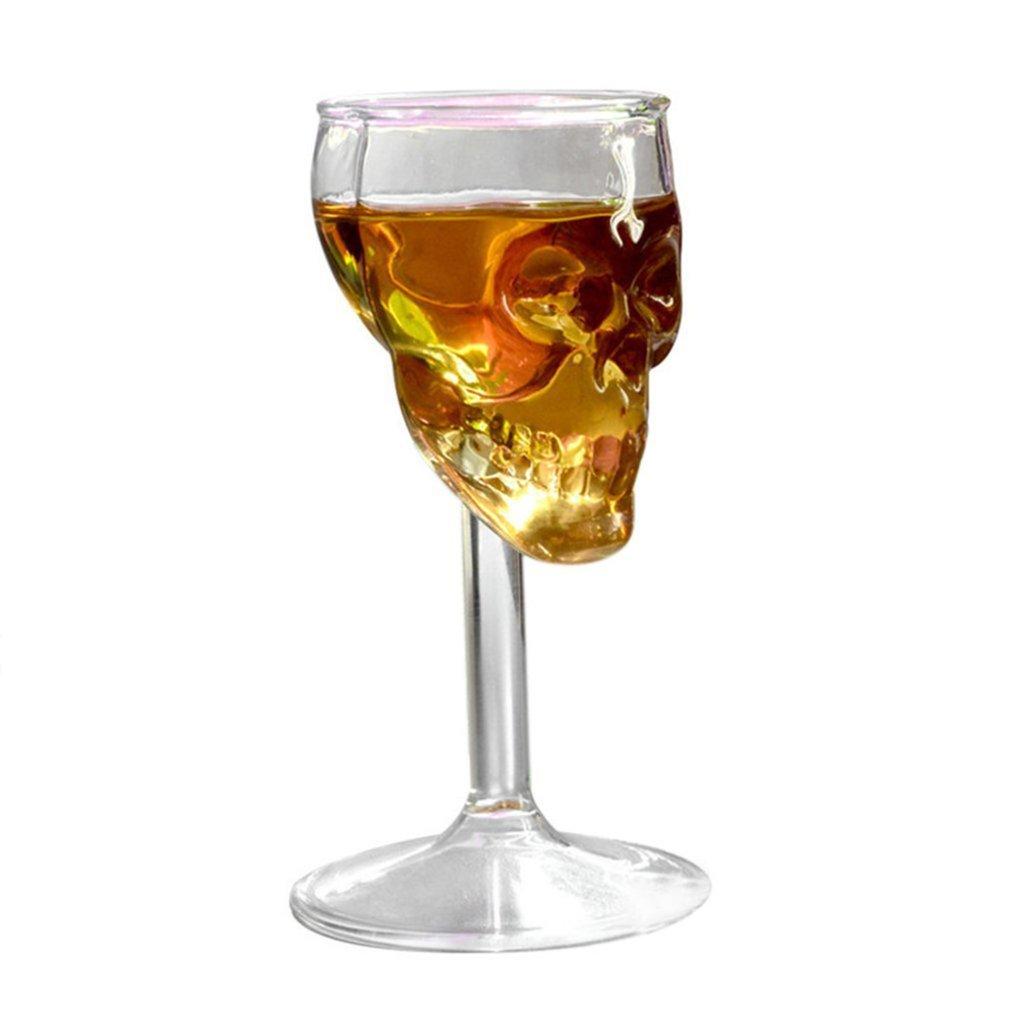 FairytaleMM La Tasse en Verre de crâne de résistance à Hautes températures de 75ML Transparent Whiskey Buvant la boîte de Nuit de Maison décorer la Tasse Tasse, Transparent