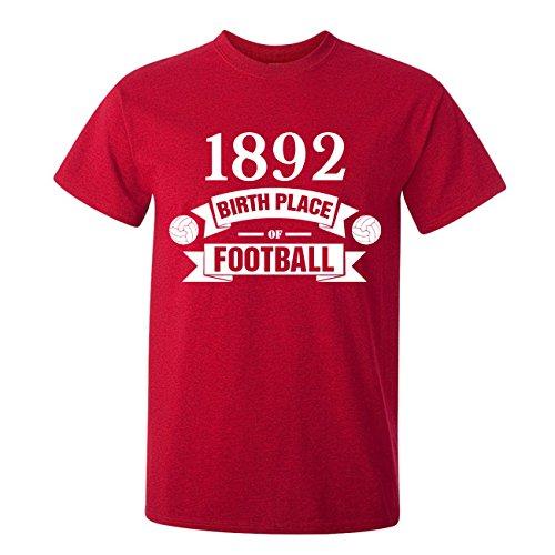 台無しに苛性規制するLiverpool Birth Of Football T-shirt (red) - Kids
