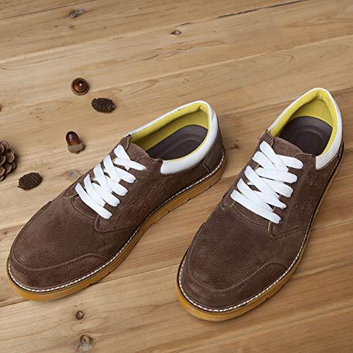Pelle A Primaverile Uomo Per In Basse Aiutare Scarpe Marrone E Autunnale Camminare Da Sneakers Passeggio XwpvIHqw