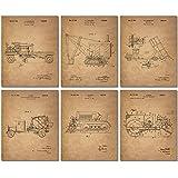 Construction Trucks Patent Prints - Set Six Vintage Vehicle 8x10 Photos