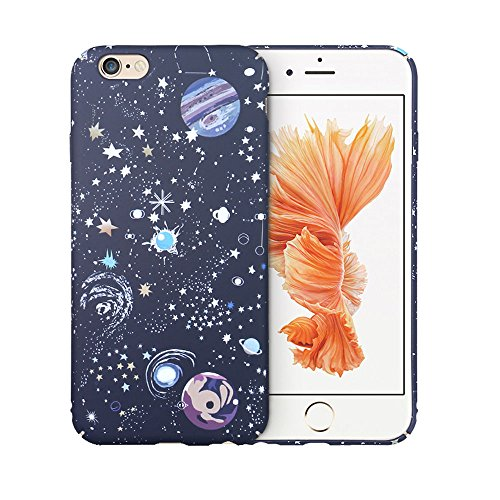 Hard Back Iphone - iPhone 6S Plus Hard Back Cover ycmcover Snap On Cute Stars World Galaxy Slim Fit Shell Case for iPhone 6 Plus/6S Plus 5.5-inch (black galaxy)