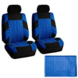 2004 4runner dash cover black - FH GROUP FB071102 Travel Master Seat Covers Pair Set Airbag Ready, Blue / Black w.FH3011 Silicone Anti-slip Dash Mat - Fit Most Car, Truck, Suv, or Van