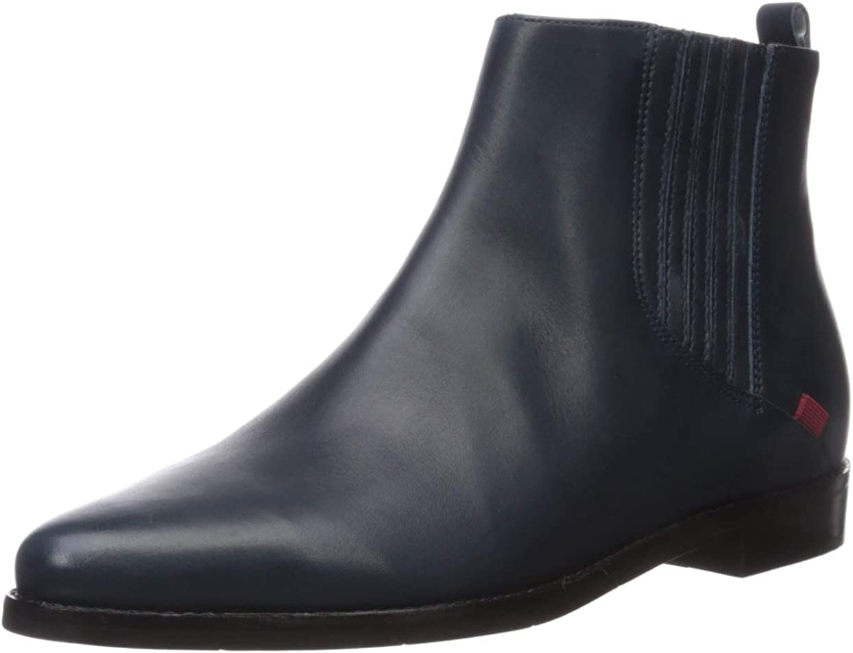 Marc Joseph New York Women's Genuine Leather Made in Brazil Luxury Ankle Boot, navy nappa, 11 M US